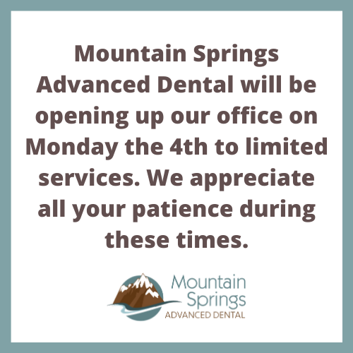 COVID Closures Lifted From Colorado Springs Dental Office